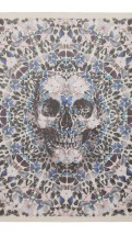 alexander mcqueen- Damien hirst white and blue butterfly skull