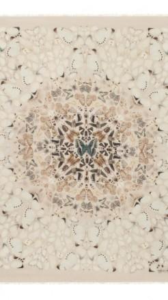 alexander mcqueen- Damien hirst white scarf 2