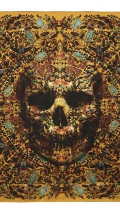 alexander mcqueen- Damien hirst yellow skull butterfly 2