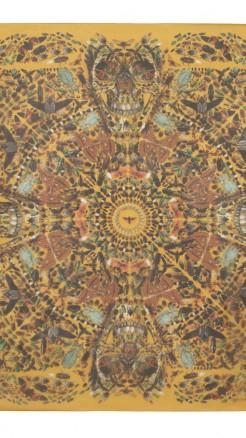 alexander mcqueen- Damien hirst yellow skull butterfly